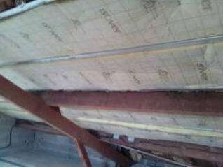 Isolation sous toiture laine de verre